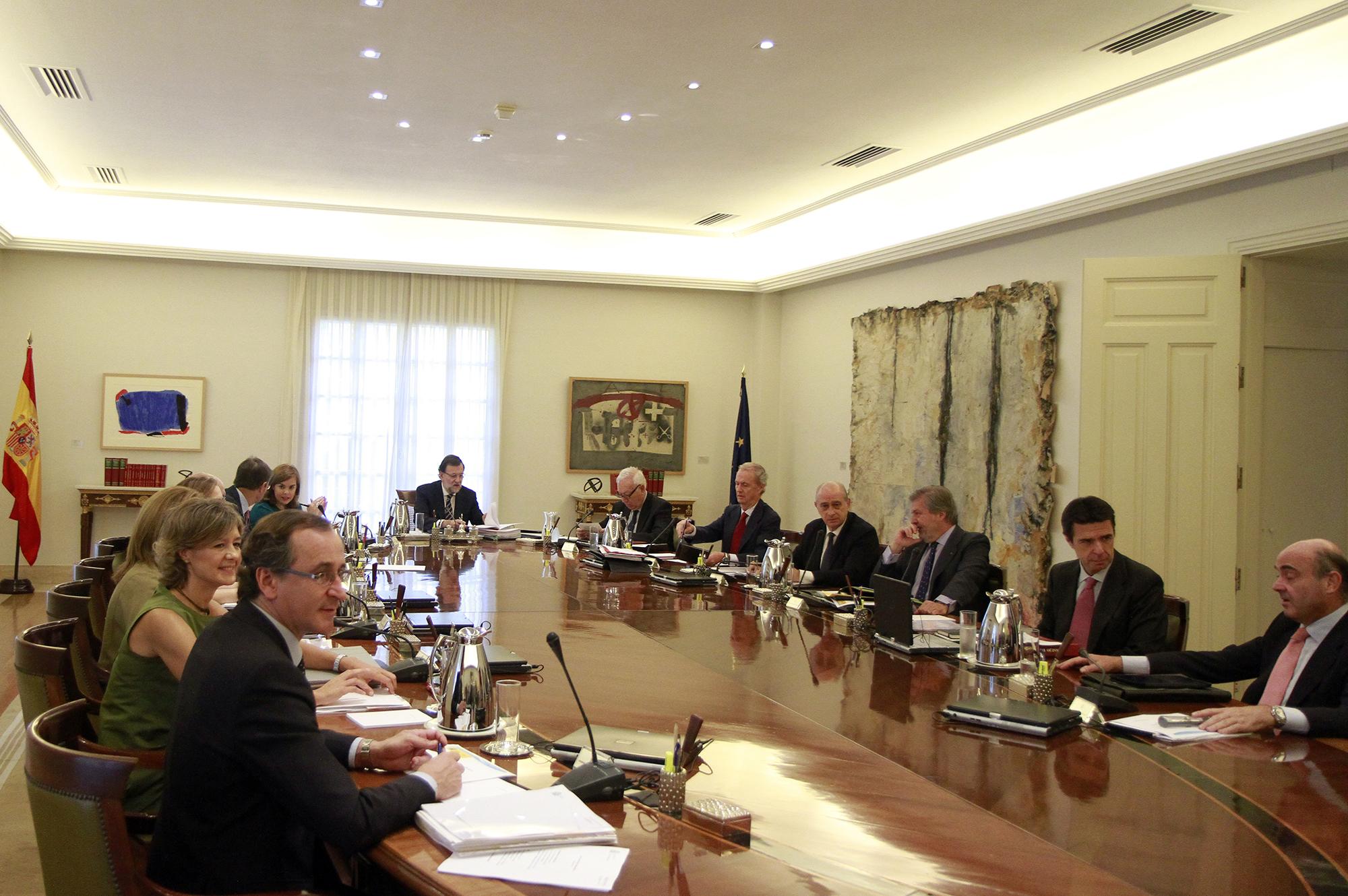 Una reunión del Consejo de Ministros en el Palacio de la Moncloa. Foto: Moncloa.