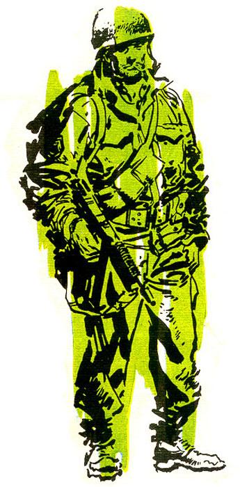 El sargento Gorila viene con ganas de guerra.