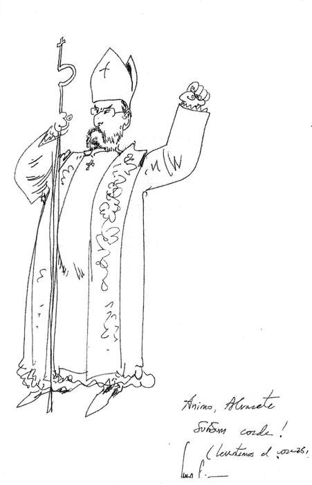 Ver a Álvaro Cuesta como obispo entonando el Sursum Corda es algo digno de comentar.