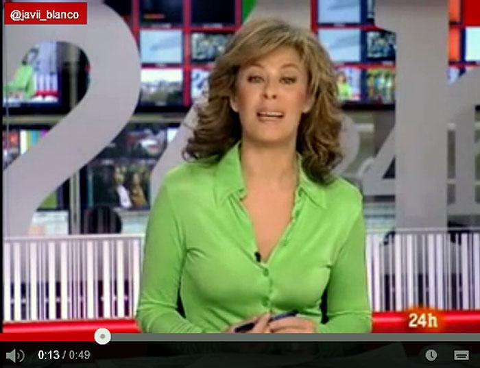 A la presentadora Beatriz Pérez Aranda se le fue el santo al cielo y pasó de los coches a los pepinos. Foto: Youtube.