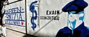 El anagrama de ETA en una calle del País Vasco.