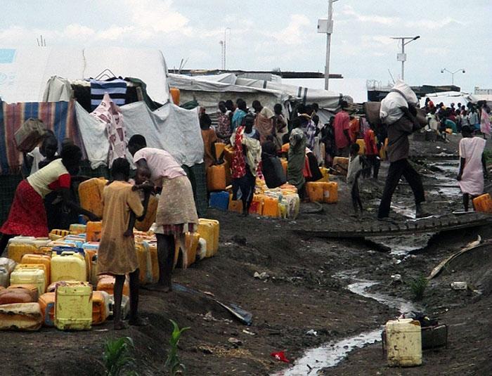 Campo de Malakal, de las Naciones Unidas en el sur de Sudán. Foto: MSF.