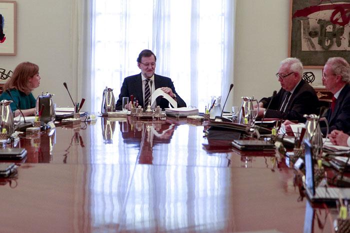 Mariano Rajoy presidiendo un Consejo de Ministros. Foto: Moncloa.