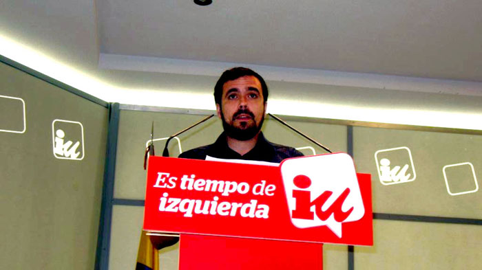 Alberto Garzón en una intervención ante la Presidencia Federal. Foto: IU.