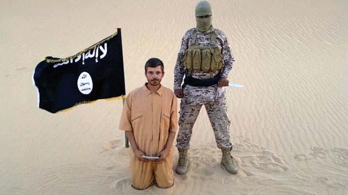 Una decapitación llevada a cabo por el mal llamado Estado Islámico.
