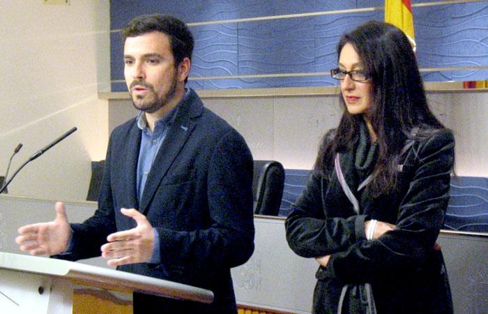 Los dos diputados de IU-UP en el Congreso. Foto: IU.