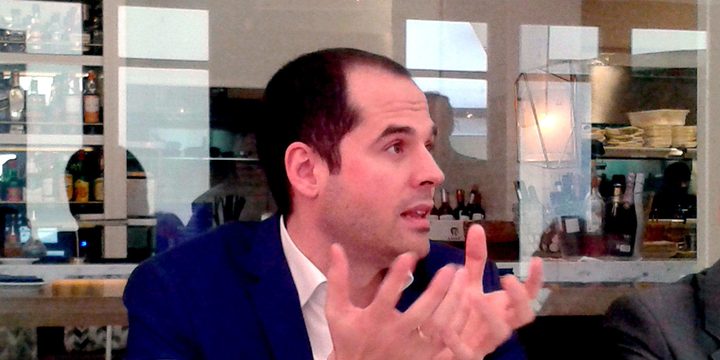 Ignacio Aguado, durante el desayuno con Experience Club, en Madrid. Foto: Experience C lub.