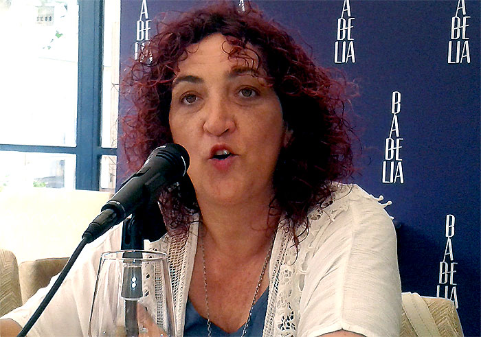 Libertad Martínez, exdiputada madrileña de Izquierda Unida. Foto: El Satiricón.