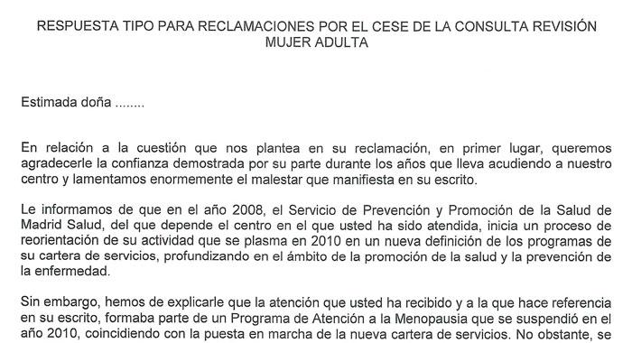 Carmena y Barbero lo tienen todo previsto para el recortazo sanitario: incluso la respuesta que darán a las mujeres que protesten.