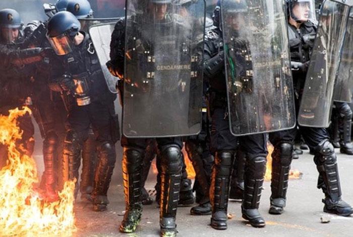 Manifestaciones en Francia por la reforma laboral. Foto: TV.